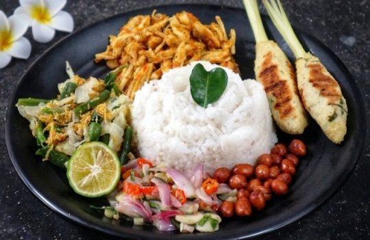 Resep Nasi Campur Bali Bumbu Cara Membuatnya